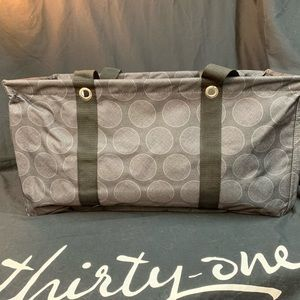 Thirty-One - Large Utility Tote - Cross Pop Dot